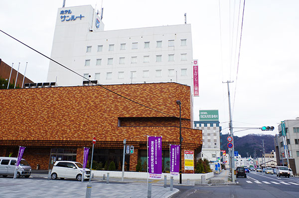 釜石市内のホテル群