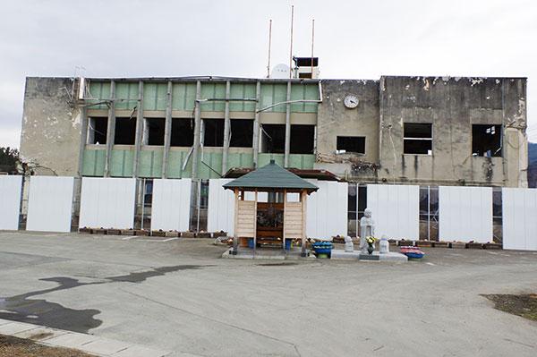 大槌町の旧役場庁舎