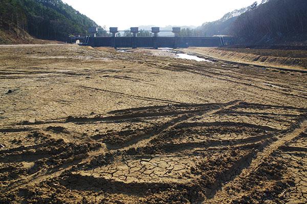 普代村 普代水門前の造成地