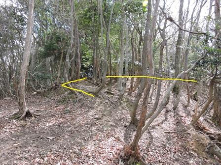 2駈倉山砦跡北側虎口