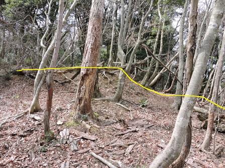 6駈倉山砦跡東側虎口(東端より)