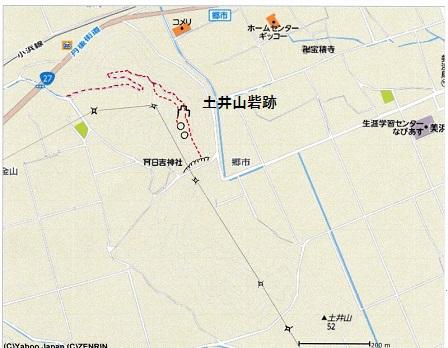 土井山砦跡位置図