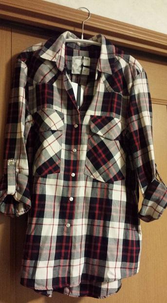 ZARAチェックシャツ1