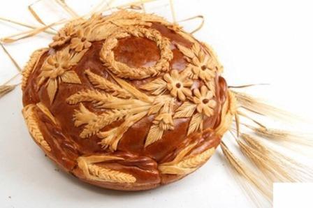 ロシアの出産祝いのパン1