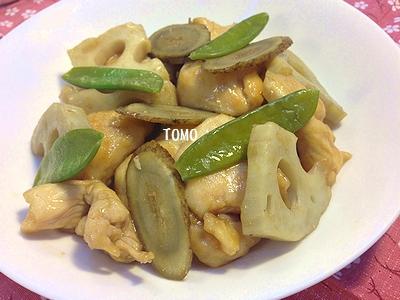 鶏胸肉と根野菜の甘辛炒め