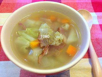 春野菜の具沢山スープ