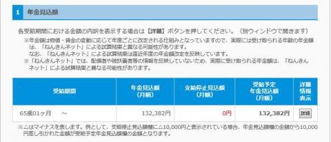 201602ねんきん見込額