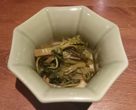 花山葵の醤油漬け