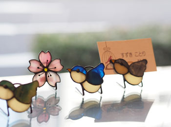 竹内_カードスタンド_小鳥・桜