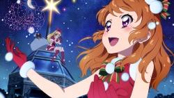 a 336855 aikatsu! autographed christmas dress heels hoshimiya_ichigo kanzaki_mizuki oozora_akari pantyhose thighhighs watanabe_satomi