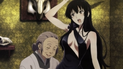 yandeare 339049 cleavage dress kujou_sakurako no_bra sakurako-san_no_ashimoto_ni_wa_shitai_ga_umatteiru
