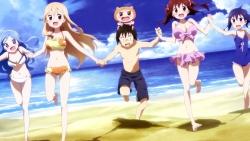 yandeare 339637 bikini chibi cleavage doma_taihei doma_umaru ebina_nana himouto!_umaru-chan megane motoba_kirie swimsuits tachibana_sylphinford