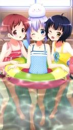 a 332565 gochuumon_wa_usagi_desu_ka_ jouga_maya kafuu_chino natsu_megumi swimsuits tippy_(gochuumon_wa_usagi_desu_ka_) wet
