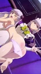ayandeare 339221 ass breast_grab feet horns maid naruse_maria oohashi_yukie pantsu panty_pull pointy_ears shinmai_maou_no_testament topless