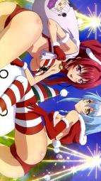 aaayandeare 339143 ass bikini christmas cleavage naruse_mio nonaka_yuki shinmai_maou_no_testament swimsuits thighhighs underboob