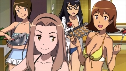 yandeare 343452 bikini cleavage digimon_adventure megane open_shirt sasaki_masakatsu swimsuits