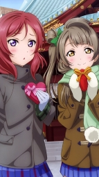 ayandere 345757 love_live! minami_kotori murota_yuuhei nishikino_maki seifuku thighhighs toujou_nozomi valentine