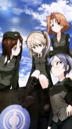 yandere 345549 azumi_(girls_und_panzer) cleavage girls_und_panzer megane megumi_(girls_und_panzer) rumi_(girls_und_panzer) shimada_arisu uniform yoshida_nobuyoshi