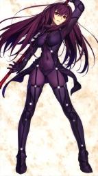yandere 343809 bodysuit fate_grand_order heels koyama_hirokazu scathach_(fate_grand_order) weapon