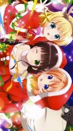 aayandeare 339086 christmas dress gochuumon_wa_usagi_desu_ka_ hoto_cocoa kirima_sharo ujimatsu_chiya