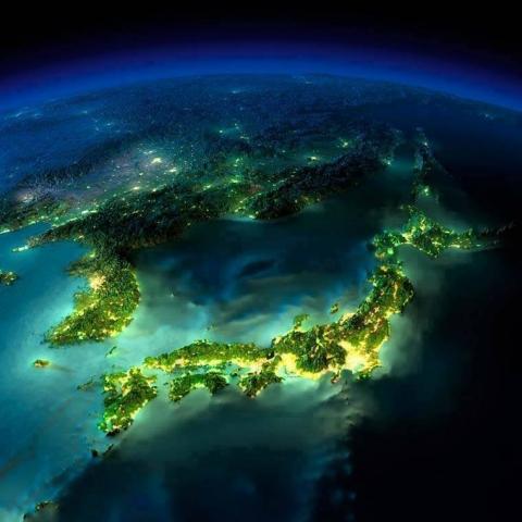 海外「日本の形は龍みたいだ」 宇宙から撮影された夜の日本列島が美しい