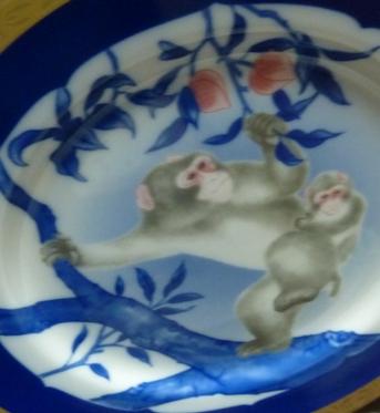 猿の親子と桃の実20160101