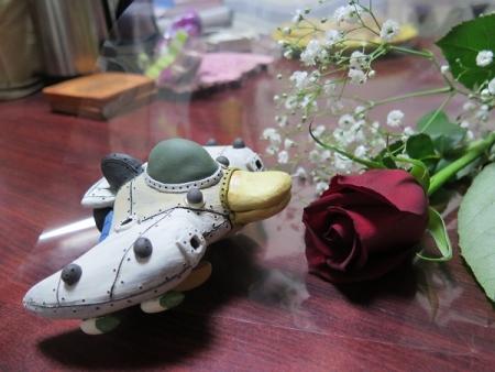 薔薇とかもくん