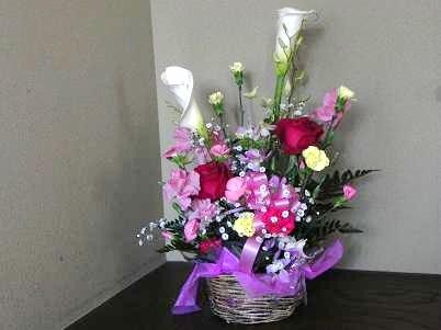 記念の花を頂く