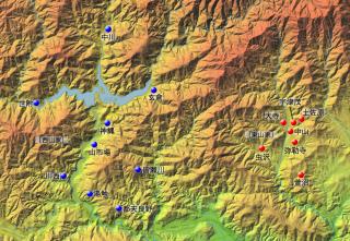 東西山家の村々