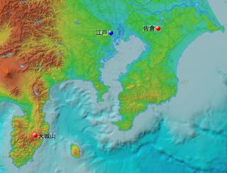 天城と佐倉の位置
