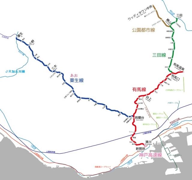 神鉄路線図1