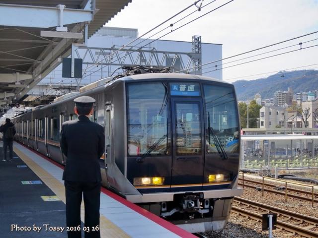 上り普通電車発車