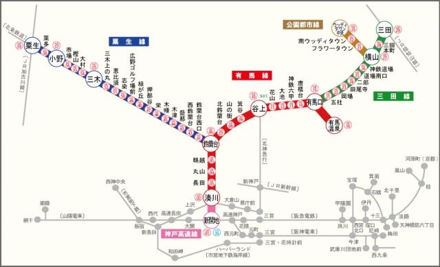 神鉄 路線図