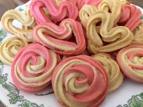 絞り出しクッキー(ハート・バラ)