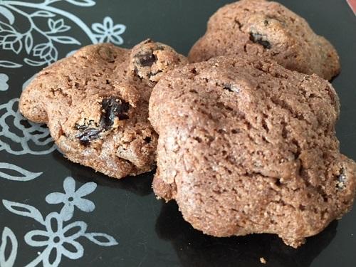 シナモンレーズンのココアドロップクッキー