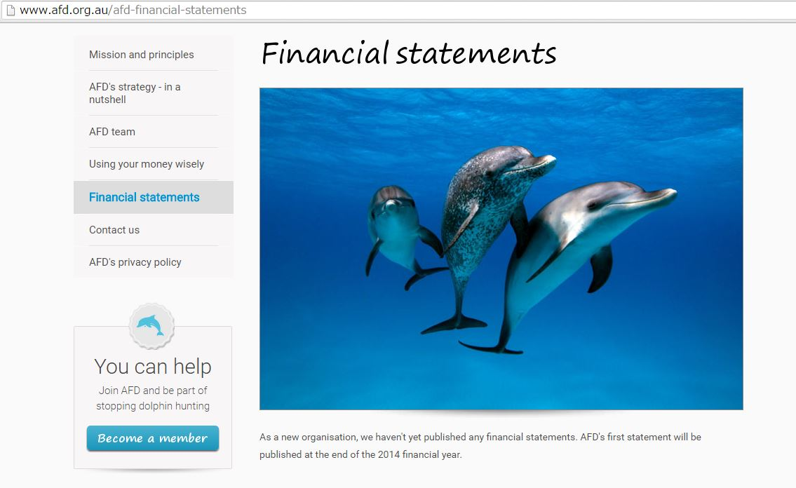Australia For Dolphins financial