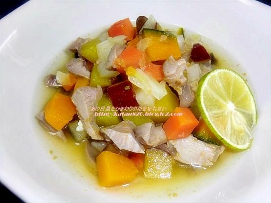 砂肝と野菜の旨みたっぷりスープ♪