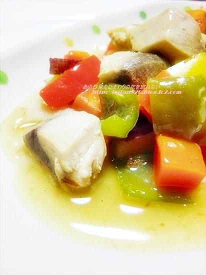ぶりと彩り野菜のあんかけ♪