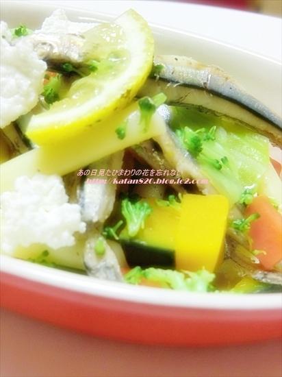 きびなごと温野菜のサラダ♪