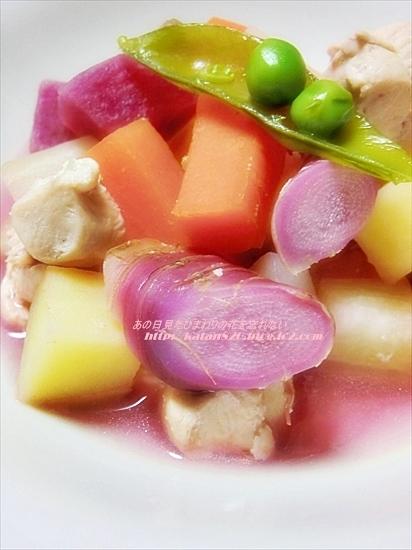 ゴロゴロ野菜のからだに優しいスープ♪