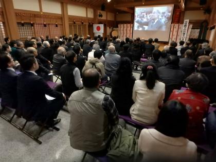 広島土砂災害慰問報道上映