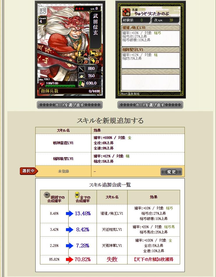 28 3月5日 信玄龍合成レベル1画面