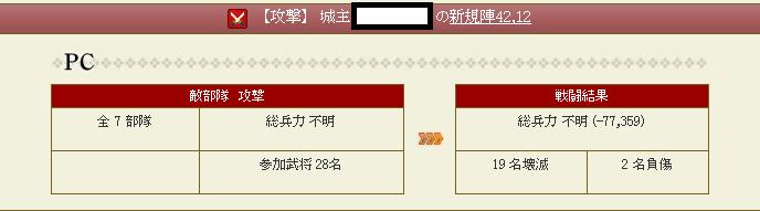 28 3月11日大友家攻撃戦報告書~防御