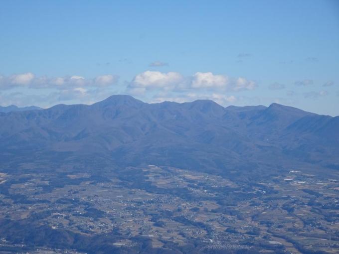 山頂から赤城山