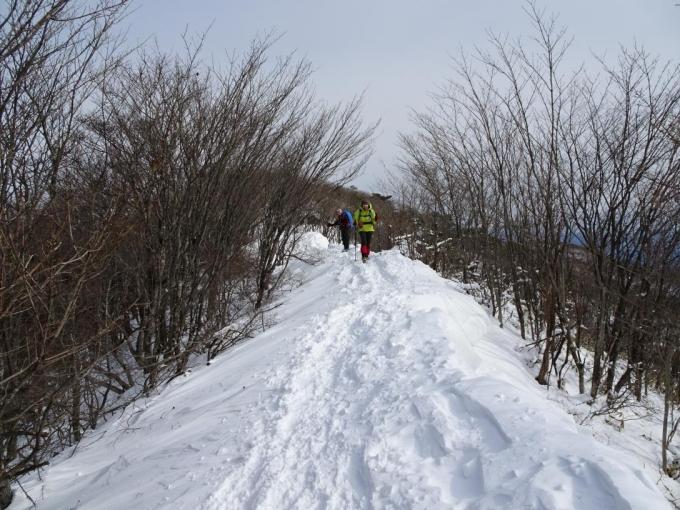 楽しい雪上歩き