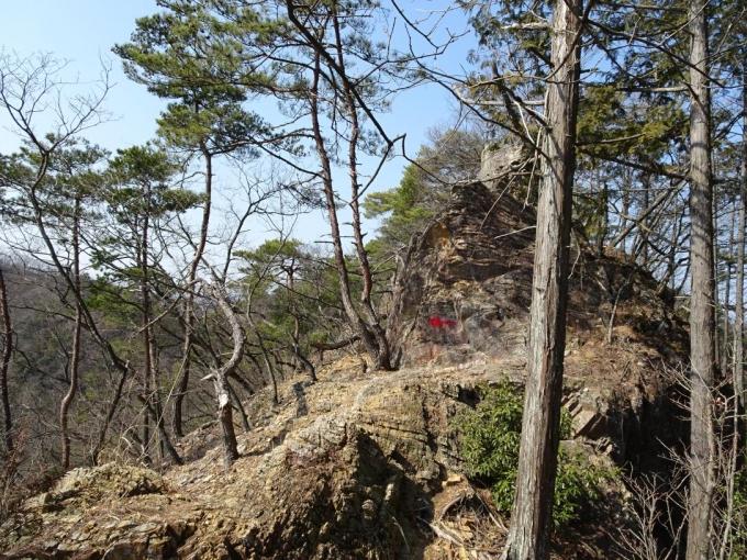岩稜の稜線歩きの始まり