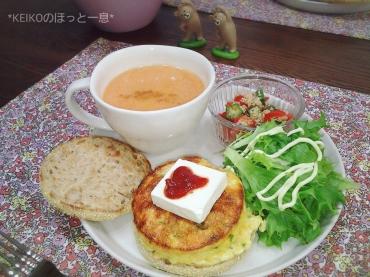 キヌアサラダとにんじんとりんごの甘酒ハニースープ