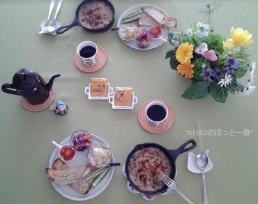 スキレットでおっしゃれーな朝食5