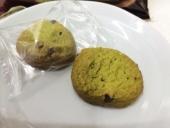 抹茶とあずきのクッキー中