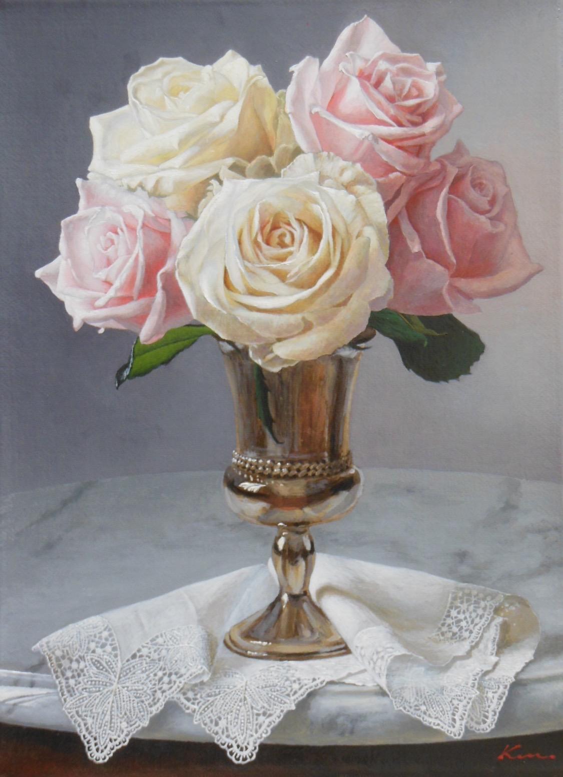 F4号題名「銀と薔薇1」